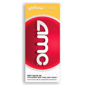 AMC Yellow Ticket - 1 NOT VALID IN: California, New York and New Jersey
