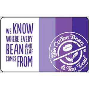 Coffee Bean eGift Card $50.00