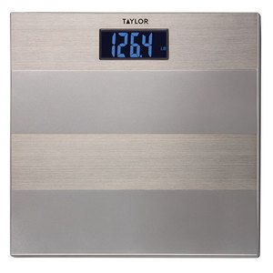Striped Digital Scale Brushed Stainless Steel