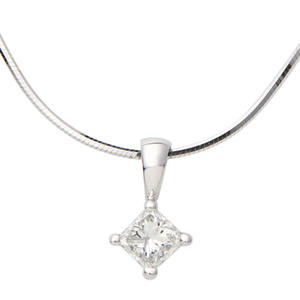 White Gold .25ct Diamond Necklace